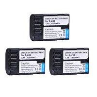 3X 1250mAH D Li90 D Li90 DLi90 Rechargeable Camera Li ion Battery for Pentax K 5 II K 5 IIS K 01 K 7 K 5 K 3 K 3 II 645D 645Z Z1