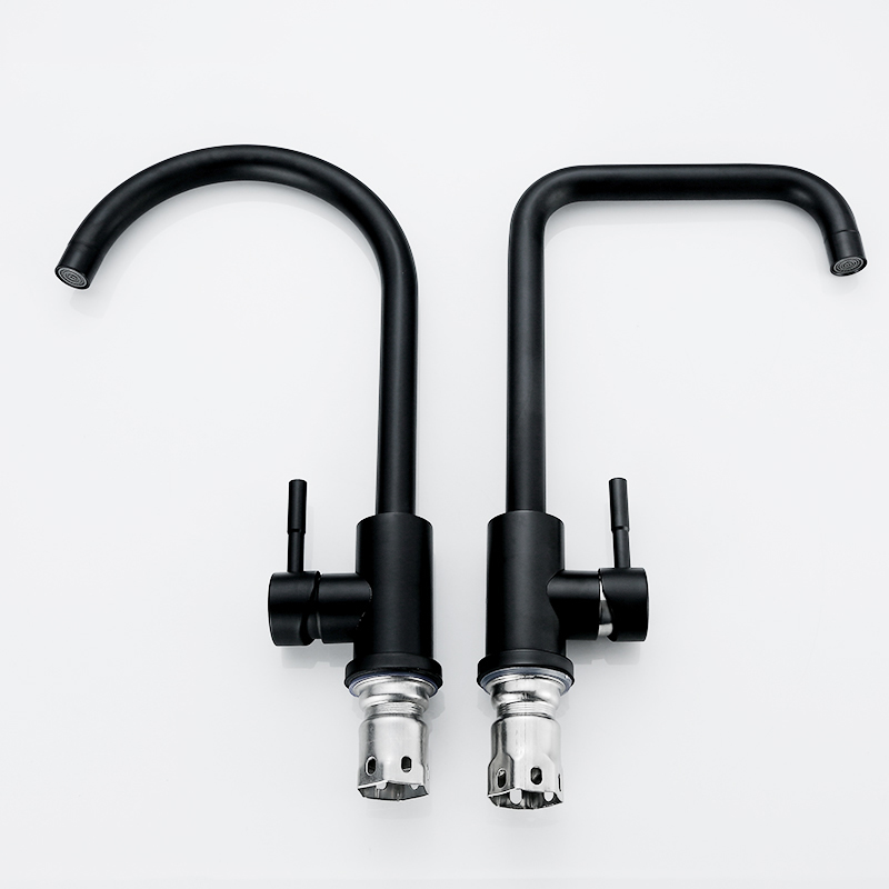 Image 3 - Kitchen Faucets 304 Stainless Steel Kitchen Mixer Single Handle Single Hole Kitchen Faucet Mixer Sink Tap Kitchen Faucet MO202Kitchen Faucets   -