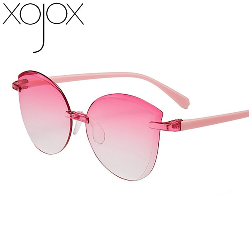 XojoX Children Frameless Trimmed Sunglasses Boy Girls Sun Glasses Fashion Child Eyeglasses UV400 Kids Eyewear Support Wholesaler