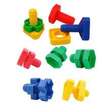 4 комплекта в партии винт строительные блоки пластиковая вставка