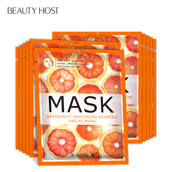 10PCS Beauty Host Grapefruit Moisturizer Whitening Fruit Face Mask Oil Control Skin Care
