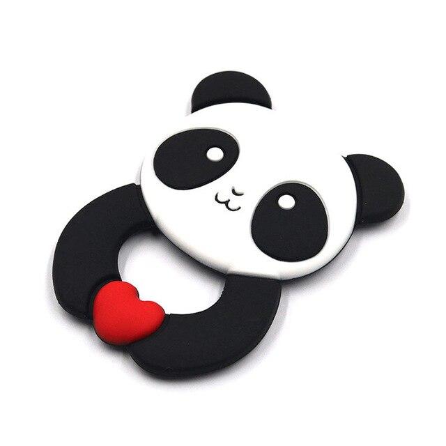 Bebek silikon diş kaşıyıcı BPA ücretsiz karikatür Hippo Panda sevimli hayvan diş çıkarma kolye timsah kolye aksesuarları bebek çiğnemek oyuncaklar