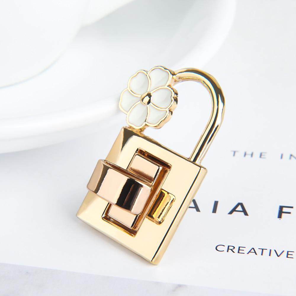 1Pc Metal Clasp Turn Lock Twist Fashion Flower For DIY Handbag Craft Purse Hardware Closure Bag Parts Hardware Accessories