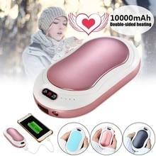 10000mah aquecedor de mão elétrico usb recarregável led aquecedor 5S aquecimento rápido mini bolso móvel power hand warmer 5v longa-vida