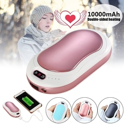 10000mAh Electric Hand Warmer USB Rechargeable LED Heater 5s Quick Heating Mini Pocket Mobile Power Hand Warmer 5V Long-Life
