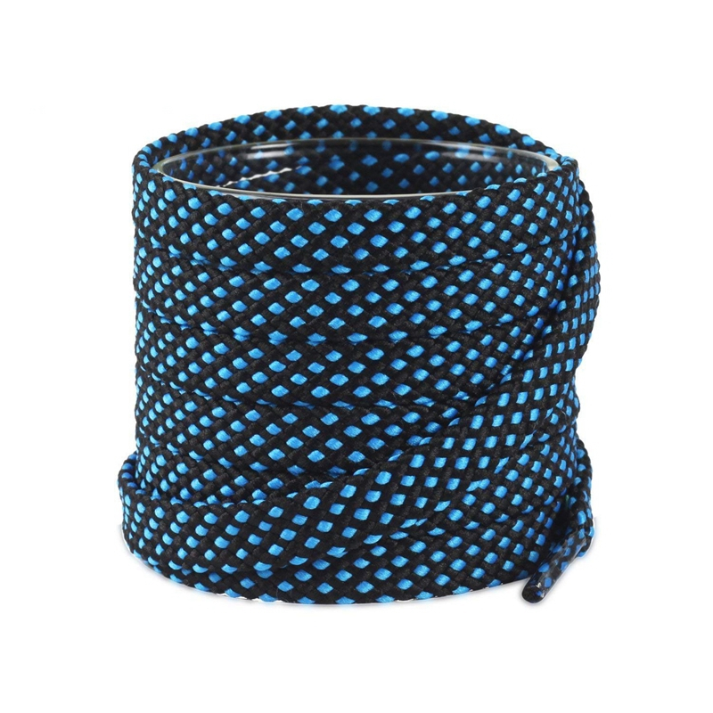 Two-color Shoelaces Flat Fashion Polyester Colors Checkered Shoe Laces Double Layer Hollow Leisure Flat Shoe Lace 100/120/140CM