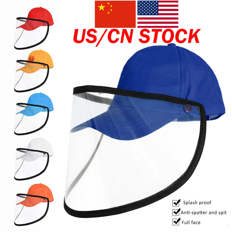 Outdoor Defence Droplet Baseball Hat Sunscreen Adjustable Baseball Cap Multicolor Optional Anti Virus Hat Face Cover Cap