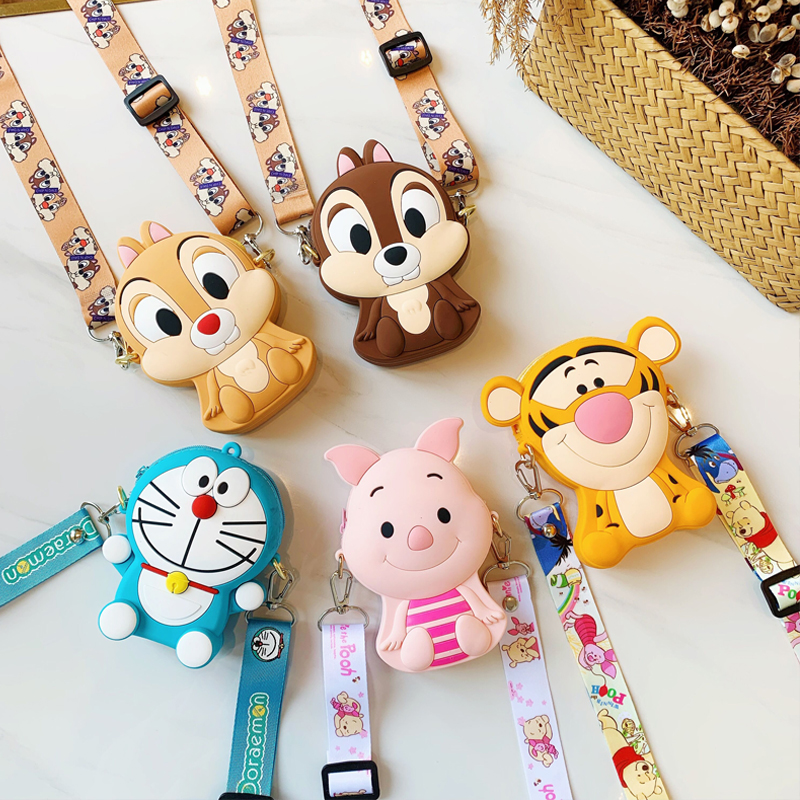 Cute Cartoon Anime Female Shoulder Bags Luxury Handbags Women Bags Designer Soft Silica Gel Ribbons Fashion Zipper Hand Bags