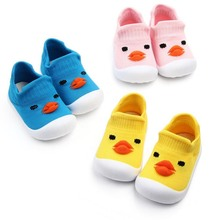 Baby Boys Girls Shoes Cartoon Pattern Anti-Slip Shoes Sneakers Soft So