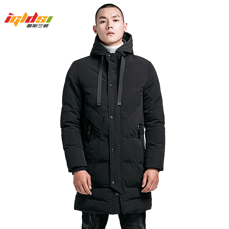 Men's Winter Long Down Jacket Cotton-Padded Parkas Men Warm Casual Parka Coat Medium-Long Water Proof Thickening Hood Jacket