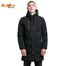 Men's Winter Long Down Jacket Cotton-Padded Parkas Men Warm