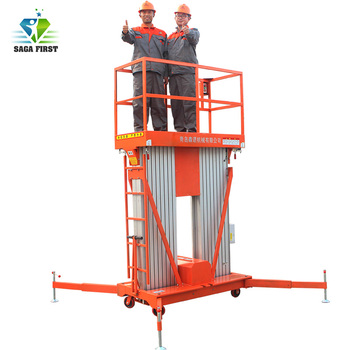 Single Mast Aluminum Alloy Man Lift Aluminum Hydraulic Mast Lift