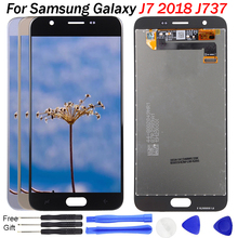 For Samsung Galaxy J7 2018 J737 LCD Display Touch Screen Digitizer for Samsung Galaxy J737P Display Repair Spare Parts with Tool 100% best working new lcd display screen for samsung galaxy ace 4 g313f s2gbg313f01am mobile phone spare parts