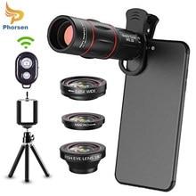 Phone Camera Lens Kit Telephoto Lens,Wide Angle , Macro , Fisheye,Remote Shutter Tripod for iPhone Samsung Most Smartphone
