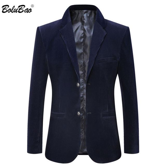 BOLUBAO Quality Brand Men Casual Blazers Corduroy