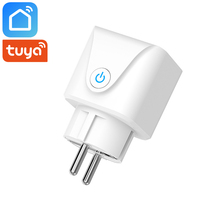 Tuya Smart Life App Wifi Smart Socket EU Plug 16A Timer Wireless Remote Control Smart Home Works With Alexa Google Home IFTTT mini smart eu plug wifi control power 16a socket energy monitoring timer switch voice control works with alexa google and ifttt