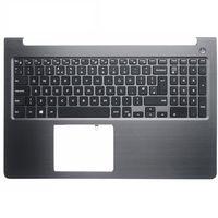 laptop accessories New for Dell Vostro 15 5000 5568 V5568 UK Laptop palmrest upper case keyboard bezel topcase cover