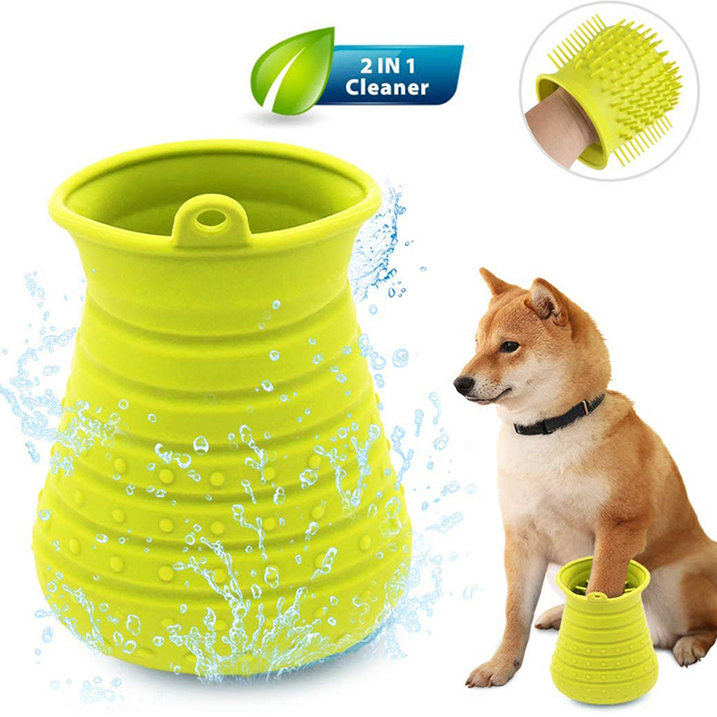 Benepaw Dog Paw Cleaner Shower Brush 2 In 1 Portable Soft Silicone Pet Foot Washer Effectively Cleaning Cup Puppy Cats Massage 12