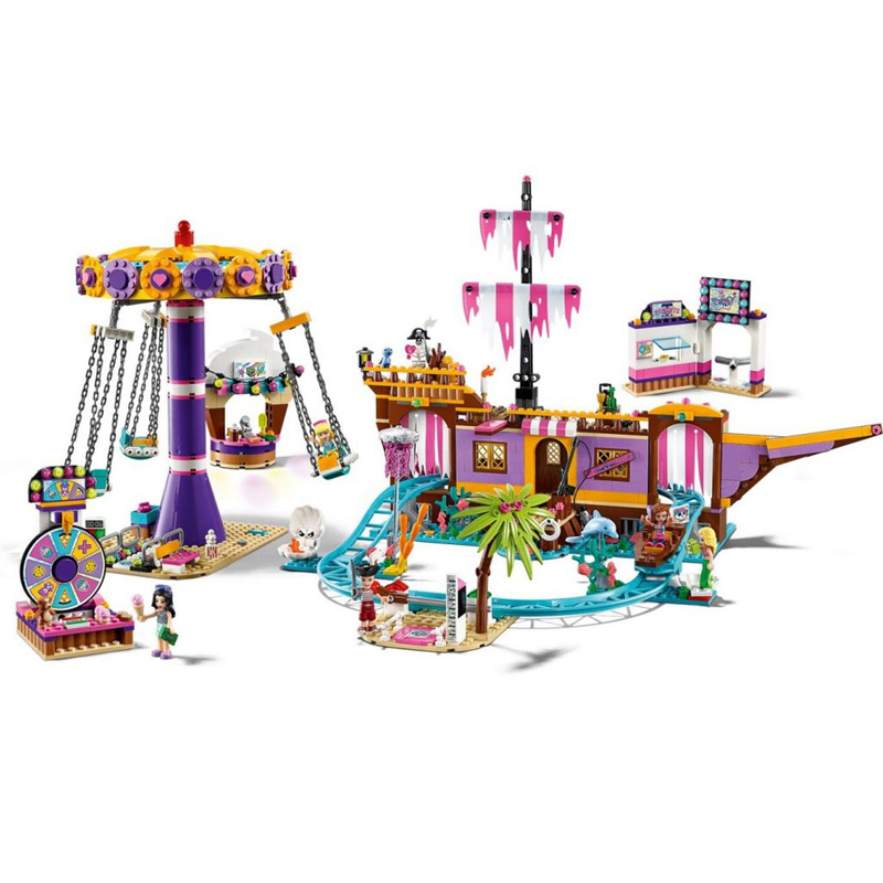 New Friends Set Heartlake City Amusement Pier Lepining Friends 41375 Model Lepinblocks Building Block Bricks Toys Girl Gifts