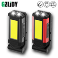 USB Aufladbare COB Arbeit Licht Super Helle LED Taschenlampe Tragbare Camping Lampe mit Schwanz Magnet Wasserdichte Einstellbar Laterne