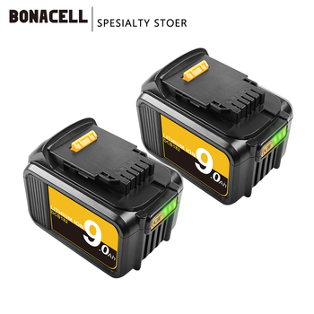 Bonacell 18V 20V Max XR 9.0Ah Lithium Ion Replacement Battery for Dewalt DCB200 DCB203 DCB204 DCB184 DCB181 DCB182 Battery 9000m