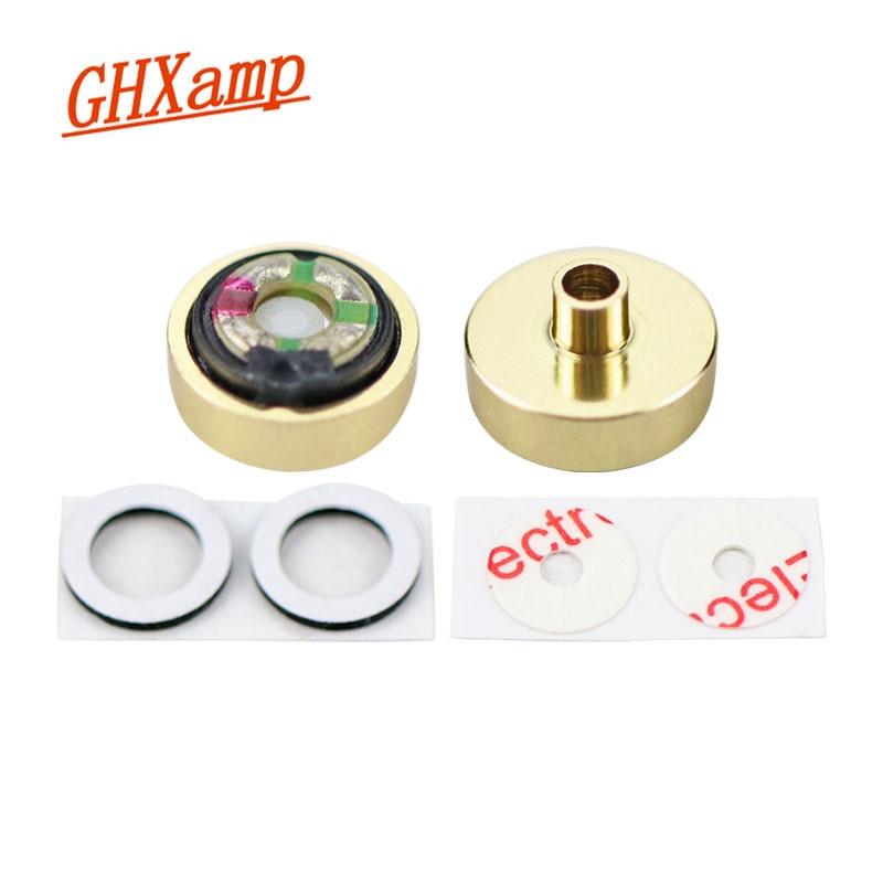 GHXAMP 10mm Subwoofer Headphone Speaker Metal Convex Speaker Unit In-Ear Earphone Speaker DIY Accessories 18Ohm 2pcs