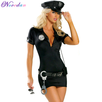 Sexy Female Cop Police Officer Uniform Policewoman Outfit Costume Halloween Adult Women Police Cosplay Fancy Dress umorden police officer cops costume for adult women men teen girls policeman uniform halloween carnival mardi gras party dress