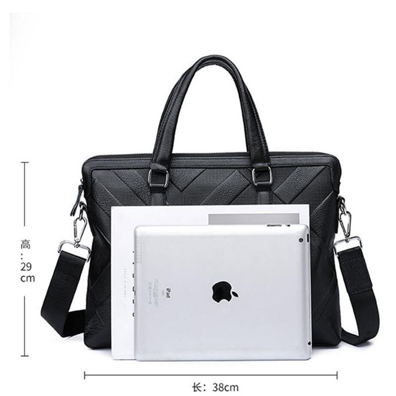 Luxury brand embossed pattern men's leather bag handbag real cowhide briefcase fashion shoulder bag male work business bags