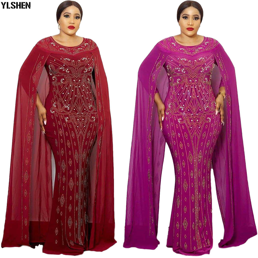 3 Colors African Dresses for Women Africa Dress African Clothes Sexy Long Maxi Evening Dress Dashiki Robe Africaine Femme 2020