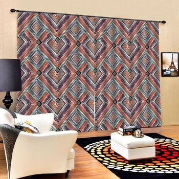 morden curtains Luxury Blackout 3D Window Curtains For Living Room Bedroom Customized size stereoscopic curtains