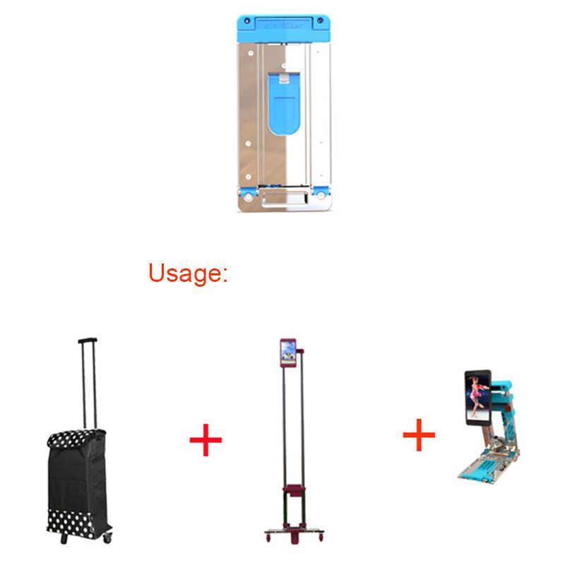 עגלת מזוודות מתקפלים נייד נסיעות קרוואן אלומיניום סגסוגת ביתי רכב מטען עגלת קניות עגלת תא מטען קרוואן
