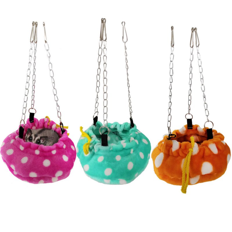 Pet Bed Small Animal Warm Swing  Sleeping Mat Hammock With 3 Hanging Chains For Hamster Parrot Squirrel Cage Accessories