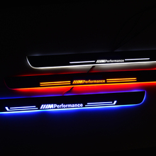 LED Door Sill Pedal for BMW F30 F31 2012 2017 Threshold Welcome Lights Nerf Bars Running Boards Car Scuff Plate Guards Lamp