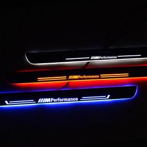 Image 1 - LED kapı eşik pedalı BMW F30 F31 2012 2017 eşik karşılama ışıkları Nerf barlar koşu panoları araba sürtme plakası muhafızları lamba