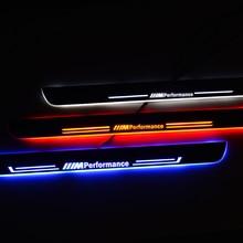Pedal de umbral de puerta LED para BMW F30 F31 2012 2017, luces de umbral de bienvenida, barras de carreras, placas de carrera para placa de desgaste de coche, lámpara protectora