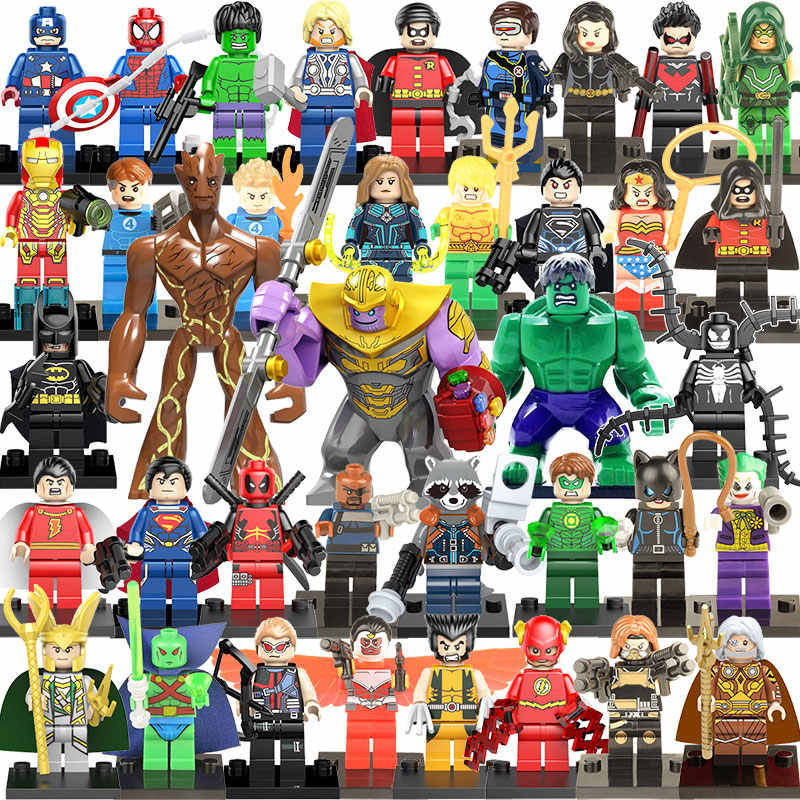 35pcs Endgame Capitan America Iron Man Thanos Deadpool Hulk Mini Figure Toy Building Block