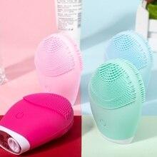 Cepillo de limpieza Facial sónico, limpiador Facial de silicona, limpieza de poros profunda, masajeador eléctrico a prueba de agua, cepillo Facial Suave