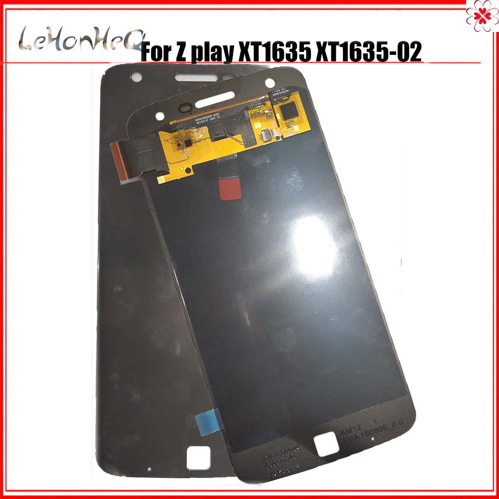 Test AMOLED LCD For Motorola MOTO Z Play <font><b>XT1635</b></font> <font><b>XT1635</b></font>-02 LCD Display Touch screen Digitizer Assembly For MOTO Z Play LCD image