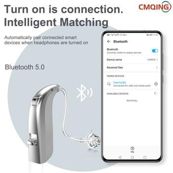 2021 Newest 20 Channels Rechargeable Digital Hearing Aid Bluetooth Mini OE Ear Sound Amplifier Enhancer Wireless Ear Care