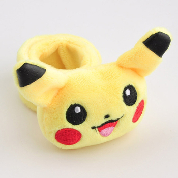 TAKARA TOMY Pokemon Stuffed Pikachu plush toys kawaii cute soft lucky doll mini hand ruler toys