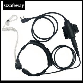 Walkie Talkie Microphone Tactical Throat Mic Earpiece Headset NATO Plug for Kenwood Baofeng UV-5R