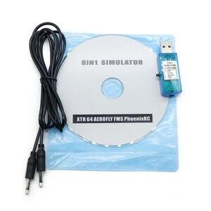 Kabel symulatora lotu USB 8w1 (Phoenix,RealFlight G4,XTR,AeroFly,FMS) do treningu umiejętności futaba ESky JR WFLY 4-8Ch
