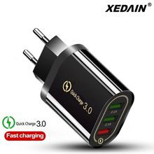 Uni Eropa/Amerika Serikat Plug Charger Cepat Charger Dinding USB Charger Pengisian Cepat QC 3.0 5 V/3A untuk apple Samsung Huawei Xiaomi Iphone Charger(China)