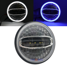 7 Inch LED headlight Blue white halo For Touring Street Glide Road King Ultra Classic Electra Glide Fat Boy New Motorcycle lamp
