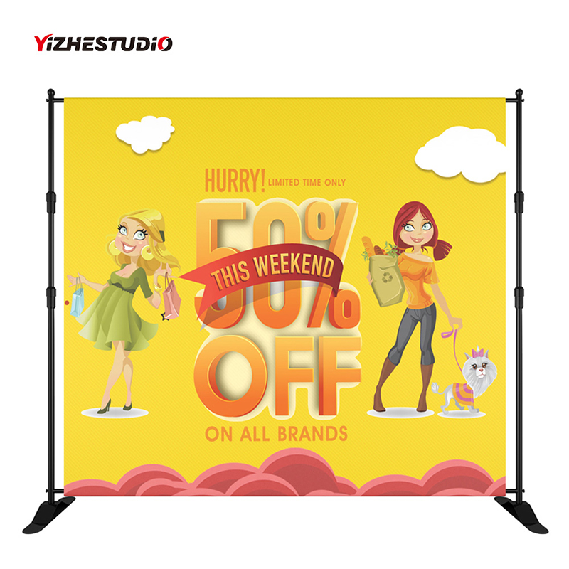 Yizhestudio Telescopic Backdrops Support  Stand with Heavy Duty Base 10 x 8 ft Frame for Photography Backdrop Trade Show Display