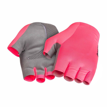 2019 NEWEST PRO TEAM CYCLING GLOVES Elite performance cycling gloves road racing gloves High vis pink and black half finger