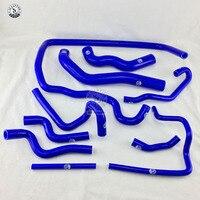 Mangueira do radiador de silicone kit para bmw e38 728 1998 (10 peças) vermelho/azul/preto
