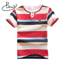 BEMIDJ Summer Boys t-shirt Short Sleeve O-neck T Shirt Kids Tops Striped Shirt Fashion Boys Children clothes T-shirt clothing