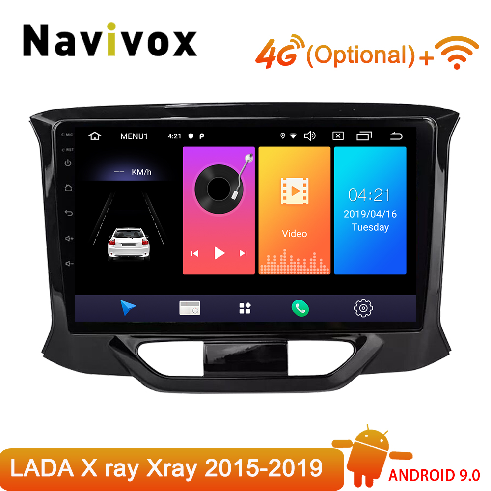 Navivox Car Radio Multimedia Video Player Navigation GPS Android 9.0 2 din dvd For LADA X ray Xray 2015 2016 2017 2018 2019 SWC image