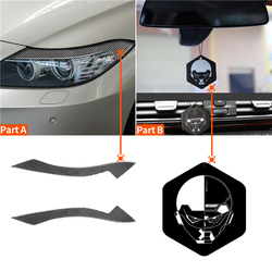 Car Front Headlight Eyebrows Protection Cover Stickers Real Carbon Fiber Headlamp Decoration Strips For BMW Z4 E89 2009-2015